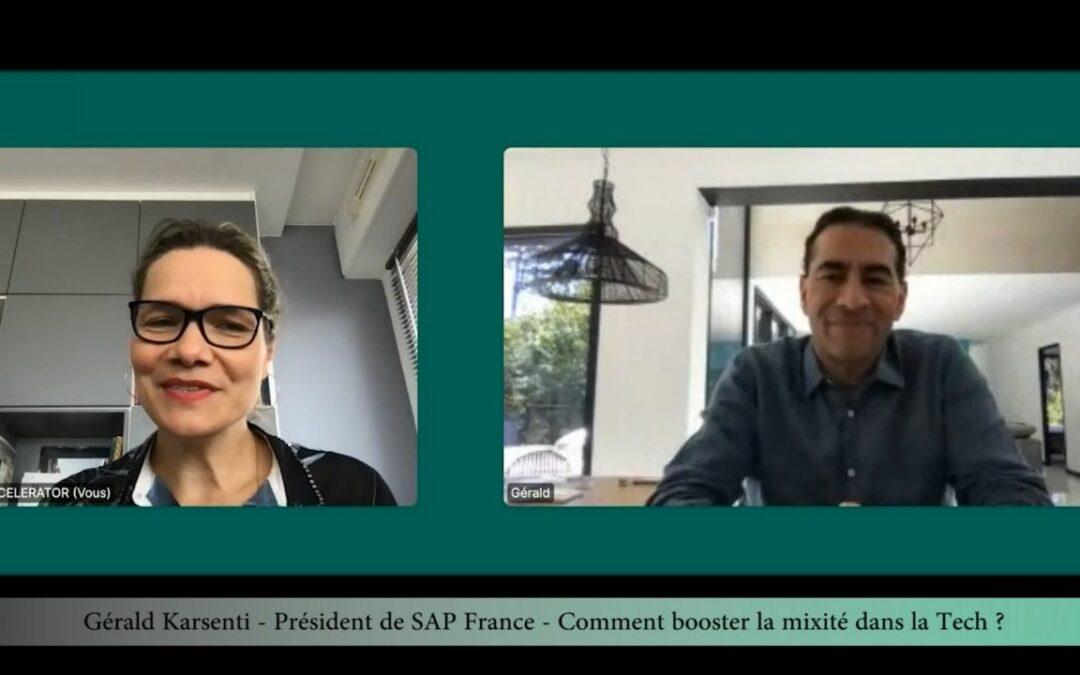Interview Gerald Karsenti, President de SAP France – Comment booster la mixité dans la tech